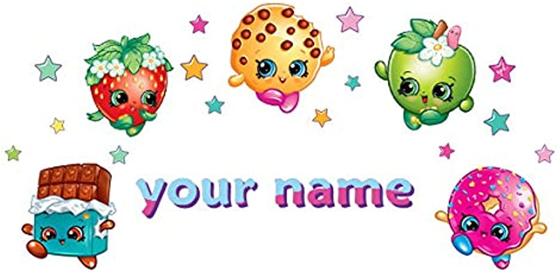 Oliver S Labels Personalized Shopkins Kids Name Wall Decal