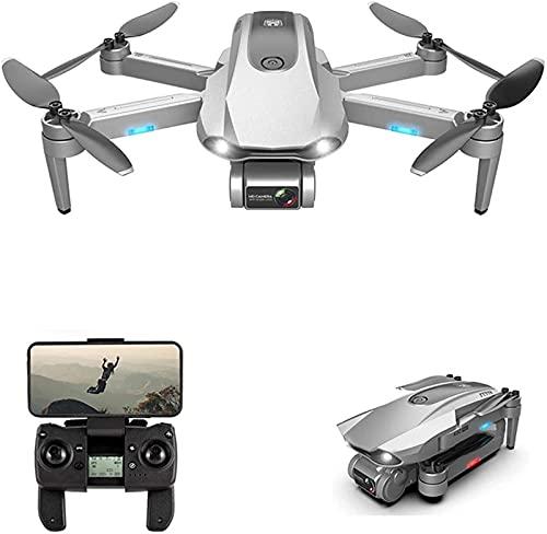 JJDSN Drone GPS con cámara HD 6K 30 Minutos Sin escobillas de un Solo Eje WiFi 5G Transmisión de Imagen 1.2km RC Drone Cuadricóptero RC Plegable, 2 baterías