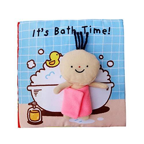 El libro de paño suave del bebé libros educativos de aprendizaje del juguete 3D de la muñeca del patrón Ducha Actividad de la arruga libro juguete de la educación temprana para bebés recién nacidos