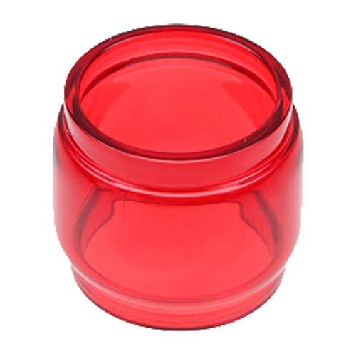 RUIYITECH 2 Stück Glasröhrchen für Smok TFV12 Prince Ersatzbirne Tank Pyrex-Glasröhre (rot)