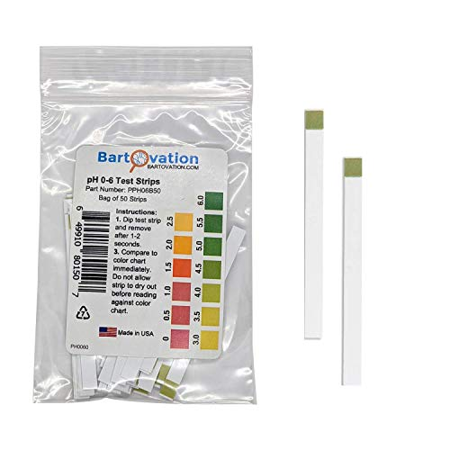 Acid pH Test Strips for Kombucha Brewing 0-6 pH [Bag of 50 Plastic...