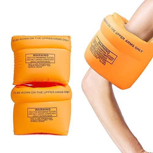 Aotlet Bracciali Gonfiabili da Nuoto,Braccioli Bambini 1-6 anni,Ali Gonfiabili Armband Unisex Bambini con Peso 6-30 kg,Braccioli Roll Up Ausili per il nuoto,Arancione