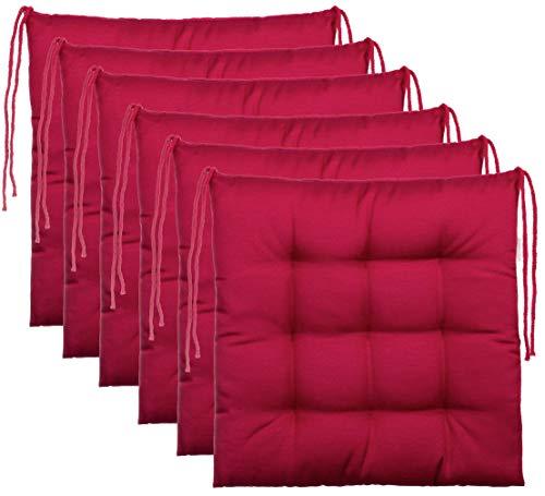 Brandsseller–Cojín decorativo de asiento para silla de jardín, 9 pespuntes, varios diseños