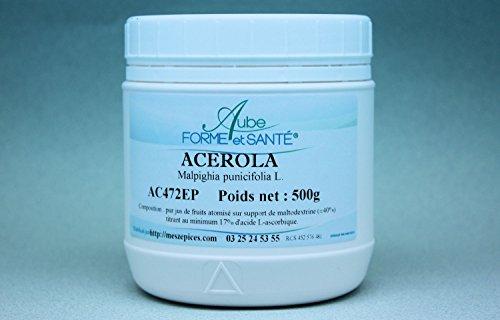 Acérola en poudre pot PEHD de 500 g (17% de vitamine C)