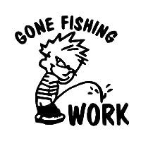 車のラベル 人格釣り窓車のステッカー15cm * 14cmに排尿するために釣りをする (Color : Black)