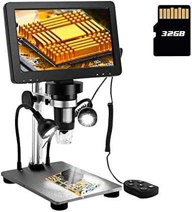 7 Inch LCD Digital Microscope 1080FHD Screen with 32G TF Card Circuit Board Repair Soldering product image