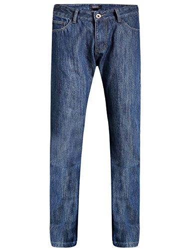 SSLR Herren Jeans Straight Fit Fleece Gefüttert Dicke Winter Thermohose aus Baumwolle (W34 × L32, Blau)