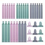 RZKJ-SHOP Pinzas de Plástico 36 Unids Cerrar Bolsas Colorear Clips de Sellado para Alimentos...