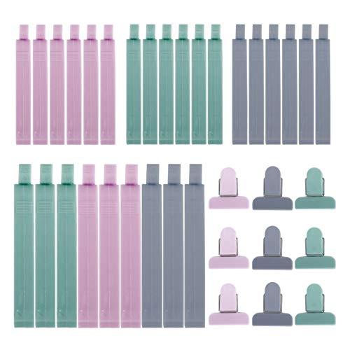 Pinzas de Plástico 36 Unids Cerrar Bolsas Colorear Clips de Sellado Para Alimentos Aperitivos Cocina
