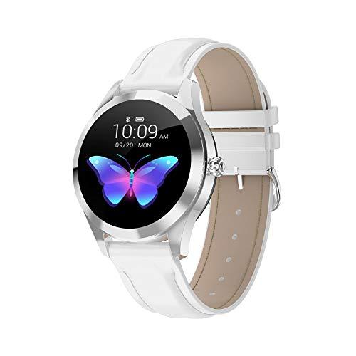 SHWBJ Smartwatch Fitnesstracker smartband sport smart armband dames lunette roestvrij staal glas bol met hartslagmeter vrouwelijk intelligent