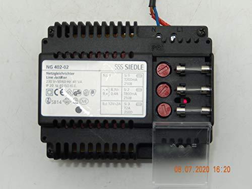 Siedle NG 402-02 Netzgleichrichter Netzgerät/Netztrafo für Sprechanlage mit Anschlusshema, NEU, war Ersatzgerät