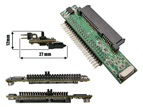 """Kalea Informatique - Convertidor adaptador de disco duro (SATA a puerto IDE de 2,5"""" y 44 pines)"""