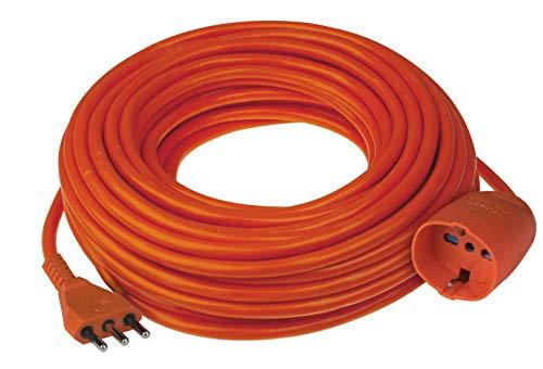 Poly Pool PP0379.20 Prolunga Da Giardino Con Pratico Supporto Spina Grande 16 A Presa Pluristandard Sezione Cavo 3 x 1,5 mm² Arancio 20 Meter