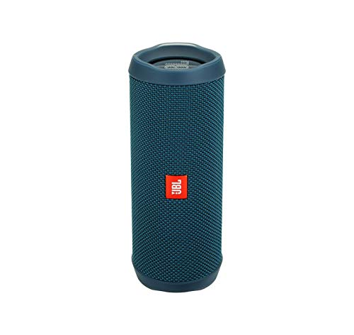 JBL Flip 4 Waterproof Portable Bluetooth Speaker - Ocean Blue (Renewed)