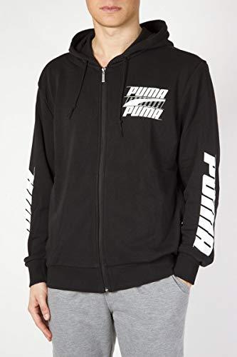 PUMA Herren Rebel Bold Hooded Jacket TR Sweatjacke, Cotton Black, L
