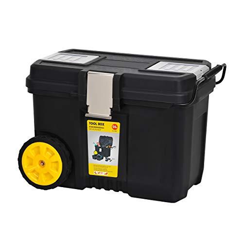 MEIJIA Caja de herramientas portátil con ruedas, organizador con ruedas