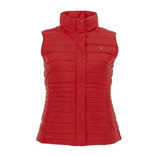 GANT Damen Daunenweste leicht, Größe:L, Farbe:Rot(836)