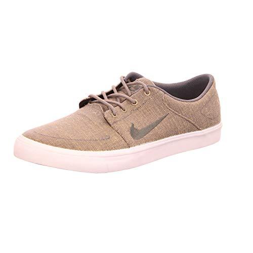 Nike Herren sb Portmore CNVS Premium Skateboardschuhe, Grau, Weiß (Dark Grey/Dark Grey/White), 40.5 EU