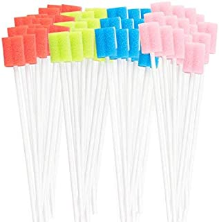 260 Disposable Oral Swabs - Sterile, Untreated & Unflavored, All Individually Wrapped In 4 Different Colors