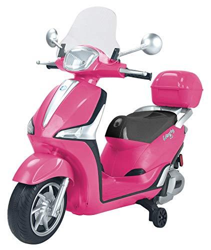 Moto Scooter eléctrico para niños Liberty Piaggio Rosa 12 V doble batería