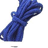 WEDSA 5 Metri 5mm Corda in Cotone Tinta Unita Corda Corda Macrame Corda Intrecciata Corda Intrecciata per Fai da Te Cucito Accessori per imballaggio Regalo-Blu