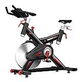 Bicicletta da Spinning Cyclette da Casa 18 kg Volano in Acciaio Inossidabile Schermo LCD Visualizzazione in Tempo Reale di Tempo/Distanza/Frequenza Cardiaca/velocità