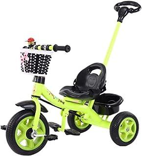 دراجة توازن الأطفال ثلاثية العجلات للأطفال من يانشو مع مقبض دفع قابل للفصل بثلاث عجلات للأطفال الصغار يركب على دراجة ثلاثي...