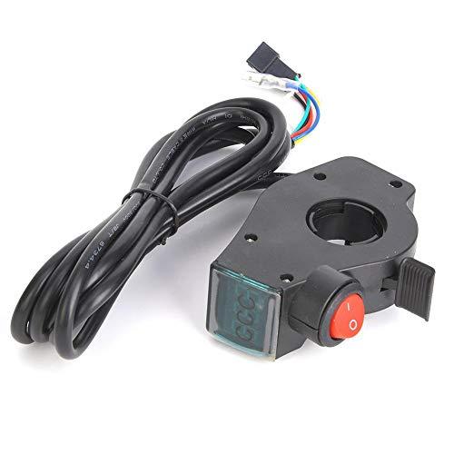 Keenso Acelerador Manual con Pantalla de Voltaje para Bicicleta Eléctrica, Patinete Eléctrico