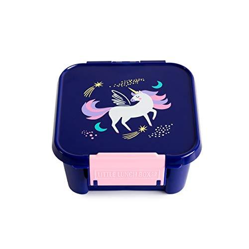 Little Lunch Box Co. Mini Snackbox für Kinder mit Unterteilungen | Bento Box | Brotdose (Magical Unicorn)