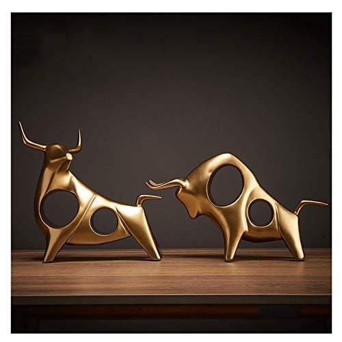 NYKK Estatuas de Feng Shui Simple Moderno luz de Lujo joyería de Vaca gabinete de Vino gabinete de televisión Escritorio de Oficina Sala de Estar Sala de Estar joyería alcista Estatua de Riqueza