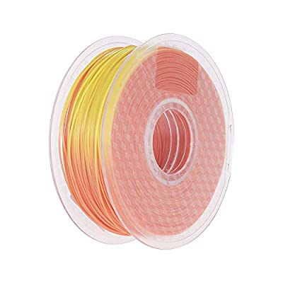 1.75mm Temperature Color Change PLA Filament Brown to Green 3D Printer Filament 1kg/2.2lbs Spool Dimensional Accuracy +/- 0.02 mm for 3D Printing