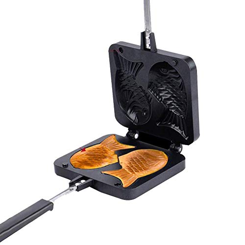 HYYDP Cacerolas Máquina para Hacer gofres Cocina Ideal Pez en Forma d