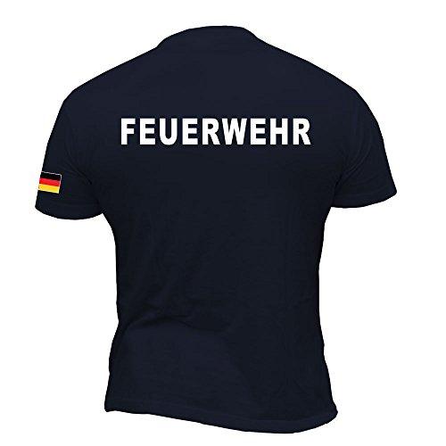 Rescue Point Feuerwehr Herren Kurzarm T-Shirt KF11DE (M)