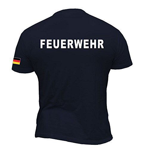 Rescue Point Feuerwehr Herren Kurzarm T-Shirt KF11DE (L)