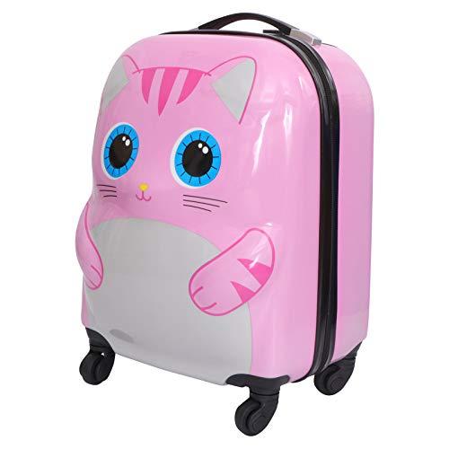 Luxshiny 1 Pc Estudiantes Bolsa De Aleación De Aluminio Rolling Bag Bolsa De Escuela Niños Maleta De Equipaje, Pink, 40X38CM,