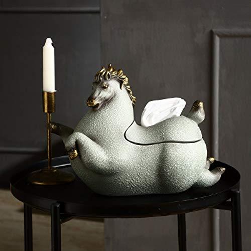 LANKOULI Tissue Box Haushalts Tissue Box Pferd Home Decoration Wohnzimmer Couchtisch Schlafzimmer Tablett