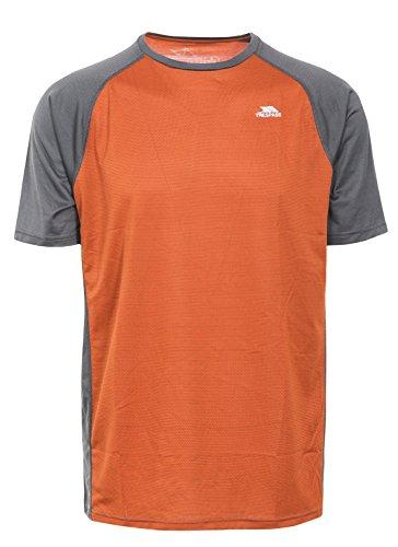 Trespass Herren Schnelltrocknendes Antibakterielles T-shirt Talca, Burnt Orange Carbon, L, MATOTSN10005_BOOL