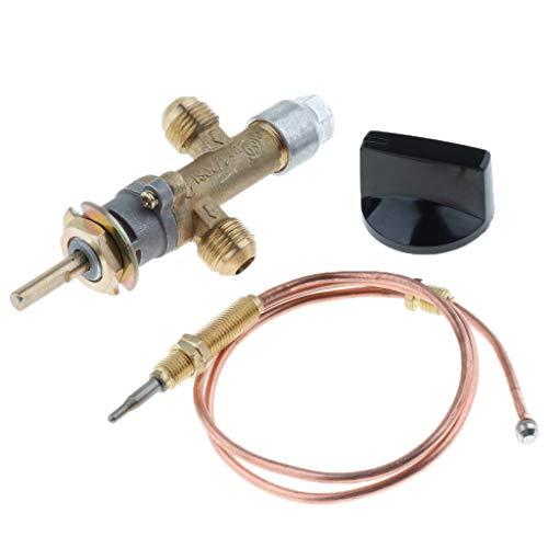 B Blesiya Gasofen Propangas Gasgrubenheizung Regelventil mit Thermoelement und Knopf
