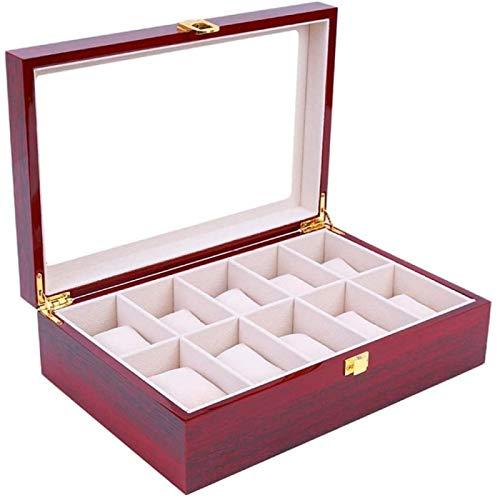 YIJIN Caja de Reloj Caja de Almacenamiento de Reloj Caja de Presentación de Reloj Caja de Joyería de Decoración de Escritorio