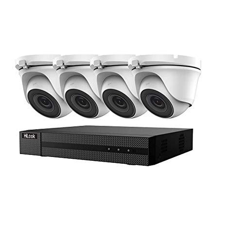Hikvision CCTV HD, 4K, 5MP. Kit di sorveglianza domestica notturna DVR, visione notturna (colore: bianco)