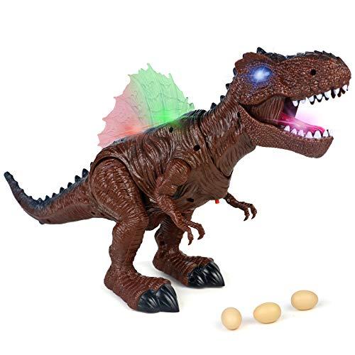 Dinosaurios Juguetes con Sonido Figura Dinosaurio Rex Pon Huevos de Dinosaurio Caminando...