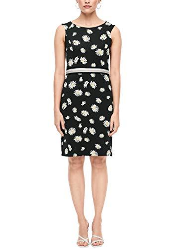 s.Oliver BLACK LABEL Damen Kleid mit Blumenmuster DAISIES PRINT 38