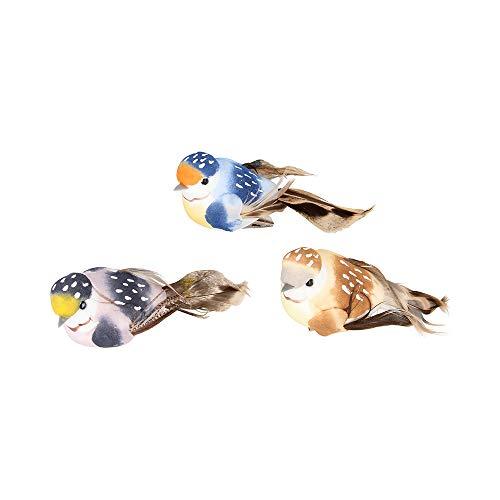 Artemio - Pájaro Decorativo sobre Pinza (10 x 4,5 x 4 cm,...