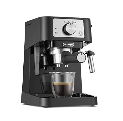 De'Longhi EC 260.BK - Portafiltro tradizionale con bocchetta professionale in acciaio INOX, per caffè espresso in polvere, 15 bar, 1,0 l, colore: Nero