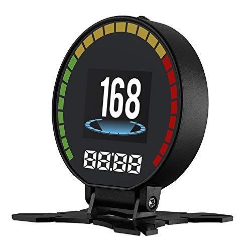 HUD Car Head Up Display OBD2 + Sistema GPS USB Digital Smart Speedometer Parabrezza Proiettore per Ford S-Max Dedicato Contachilometri Schermo riflettente HD