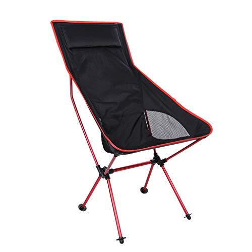 JIAX Draagbare kampeerstoel, opklapbare strandstoel, draagbare ligstoel, geschikt voor buiten, camping, picknick, wandelen, 39 inch hoog