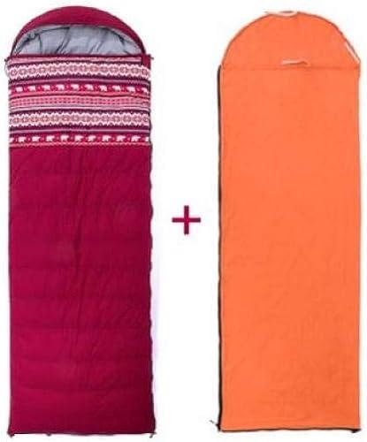 Leger Sac de Couchage Coton de Survie froidimpermeable Sac de couchageSac de Couchage en Duvet intérieur Ultra Chaud pour Le Camping