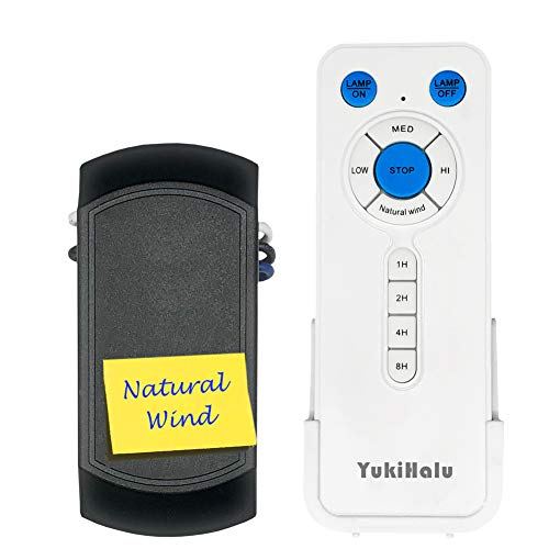 YUKIHALU Natural Wind Universal Ceiling Fan Remote Control...
