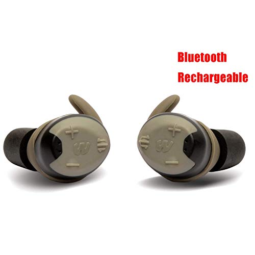Walker's Silencer Bluetooth Digital Earbuds, Recharbeable,  NRR23dB, Sound Activated