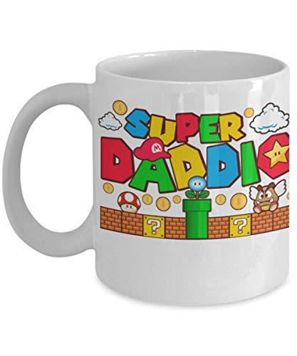 Super daddio coffee mug | Happy fathers day coffee mug | coffee mug for dad | super mario coffee mug | best dad ever